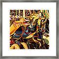 Wild Carrousel Horses  Framed Print