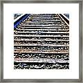 0004 Train Tracks  Framed Print