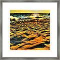 0008 Windy Waves Sunset Rays Framed Print