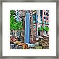 002 Fountain Plaza Framed Print