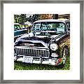 Black And White Chevy Framed Print