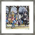 Charles I's Last Walk Framed Print