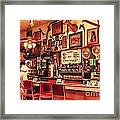Historic Niles District In California Near Fremont . Bronco Billys Pizza Palace . 7d10707 Framed Print by Wingsdomain Art and Photography