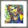 Jazz Singer Framed Print