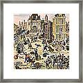 Massacre Of Huguenots Framed Print by Granger