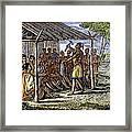 Native American Council, C1835 Framed Print