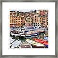 Port Of Camogli Framed Print by Joana Kruse