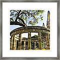 Rotunda Of Illustrious Jalisciences And Guadalajara Cathedral Framed Print