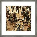 Seabees Conduct A Mass Casualty Drill Framed Print