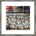 Shrine To Ianto Framed Print