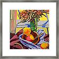 Still Life With Mangoes Framed Print