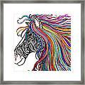 Tattooed Horse Framed Print