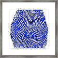Thumbprint Framed Print