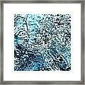 Water In A Pool Which Lock Like A Frozen Water Stream Of A River Framed Print