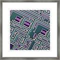 Microchip, Light Micrograph Framed Print