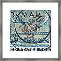 1946 Oakland Bay Bridge Air Mail Stamp Framed Print