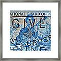 1953 The National Guard Of The U. S. Stamp Framed Print