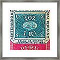1957 Peru Ten Centavos Stamp Framed Print