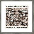 1958 Lincoln-douglas Debates Stamp Framed Print