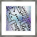 Biometric Fingerprint Scan Framed Print