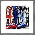 Colorful Houses In St. John's Framed Print