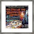 House Of Usher, Aka The Fall Of The Framed Print by Everett