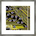 Macrophotograph Of A Circuit Board Framed Print