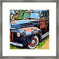 Nostalgic Rusty Old Truck . 7d10270 Framed Print