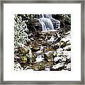 Winter Waterfall Back Fork Of Elk River Framed Print
