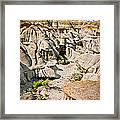 Badlands In Alberta Framed Print
