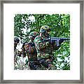 Belgian Paratroopers Proceeding Framed Print