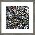 Hdr Image Of A Pilot Sitting Framed Print