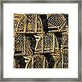 Wooden Lobster Traps Framed Print