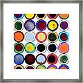30 Circles Framed Print