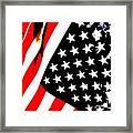 Flag Lady Framed Print
