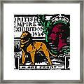 old British postage stamp Framed Print