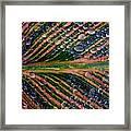 Raindrops On Lily Leaf Framed Print