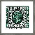 old British postage stamp Framed Print