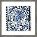 old Australian postage stamp Framed Print