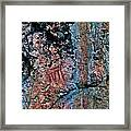 Painted Rocks At Hossa With Stone Age Paintings Framed Print