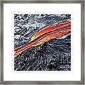 River Of Molten Lava Framed Print