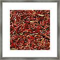 A Burlap Bag Full Of Red Hot Peppers Framed Print by James P. Blair