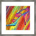 A High Heel Framed Print