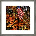 A Patriotic Autumn Framed Print