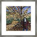 A Portrait Of The Artist's Mother In Autumn Framed Print
