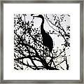 A Simple Silhouette Framed Print
