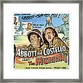 Abbott And Costello Meet The Mummy, Lou Framed Print