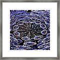 Abstract - Blue Diamonds Framed Print