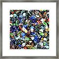Abstract - Colored Glass Characters Framed Print