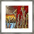 Abstract Art Contemporary Coastal Cityscape 3 Of 3 Capturing The Heart Of The City II By Madart Framed Print